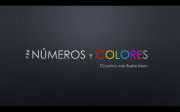 Spanish Colors and Number 1-50