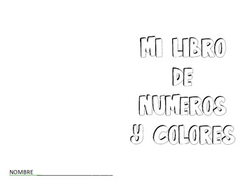Spanish Colors and Numbers Coloring Book