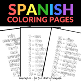 Spanish Colors and Numbers Coloring Sheet