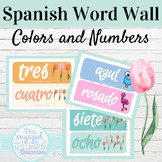 Spanish Colors and Numbers Word Wall