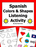 Spanish Colors and Shapes Listening Activity - Los Colores