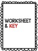 """Spanish Colors and Shapes """" Los Colores Y Las Formas"""" Poster, Worksheets, Key"""