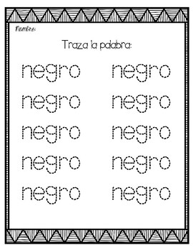 El color negro