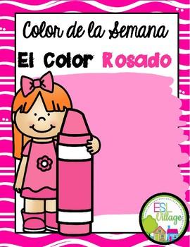 In Spanish   Pink {el color rosado}