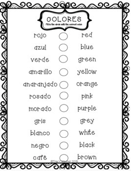 Spanish Colors for Littles