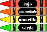 Spanish Colors on Crayons