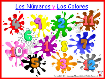 Spanish Colours Pronunciation and Activity Sheets