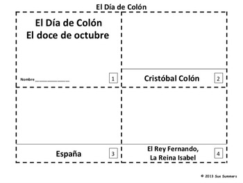 Spanish Columbus Day 2 Emergent Reader Booklets - Dia de Colon