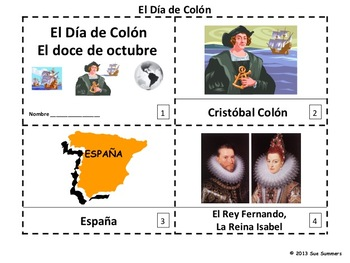 Spanish Columbus Day 2 Emergent Reader Booklets - Dia de Colon