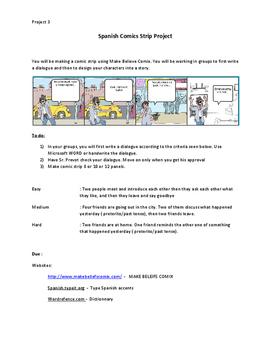 Spanish Comic Strip Class Project