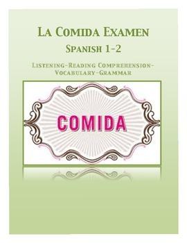 Spanish Comida Exam