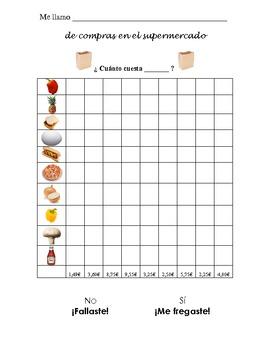 Spanish Comida Supermarket Information Gap Prices