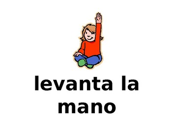 Spanish Command Printables for Classroom Posters / Mandatos