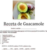 Spanish Commands (usted, usteded and tu) Guacamole Recipe