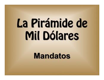 Spanish Commands $1000 Pyramid Game
