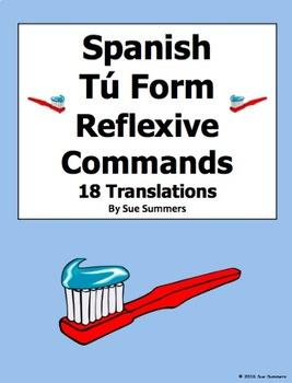 Spanish Commands 18 Tú Form Reflexive Commands