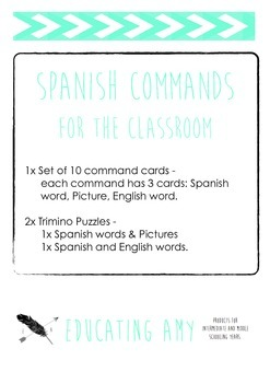 Spanish Commands Activities