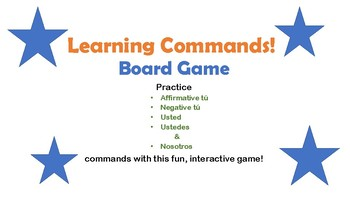 Spanish Commands Board Game!