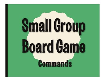 Spanish Commands Board Game