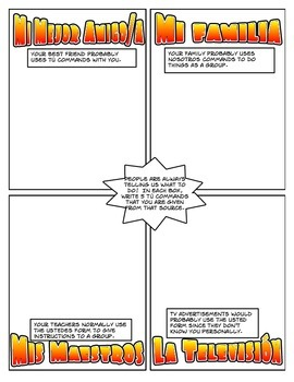 Spanish Commands Cartoon Activities
