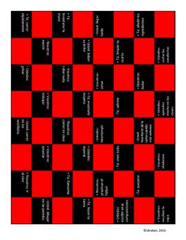 Spanish Commands Checkerboard