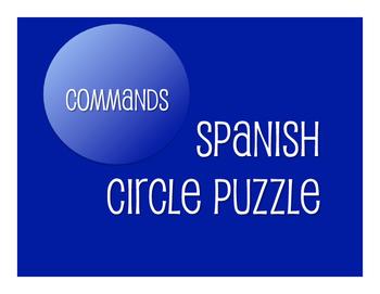 Spanish Commands Circle Puzzle