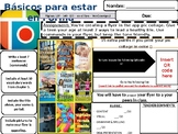 Spanish Commands - Flyer /Project  - How to stay healthy