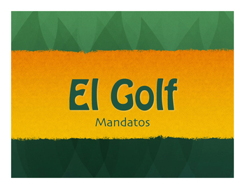 Spanish Commands Golf