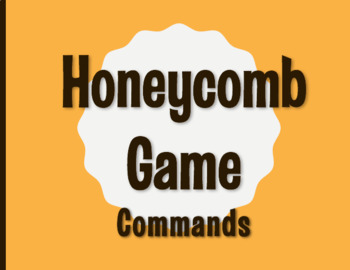 Spanish Commands Honeycomb Partner Game