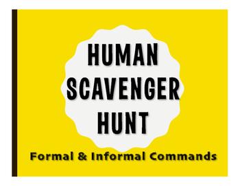 Spanish Commands Human Scavenger Hunt