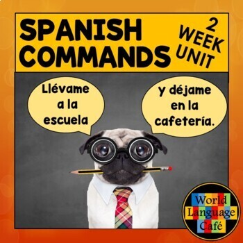 Spanish Commands Lesson Plans:  Games, Video, Quiz, Songs, Distance Learning