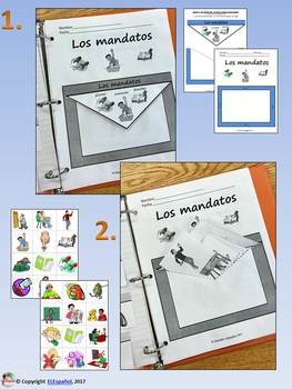 Spanish Commands / Los Mandatos Interactice Notebook and Flash Cards