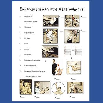 Spanish Commands Los mandatos Interactive Notebook Activities