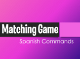 Spanish Commands Matching Game