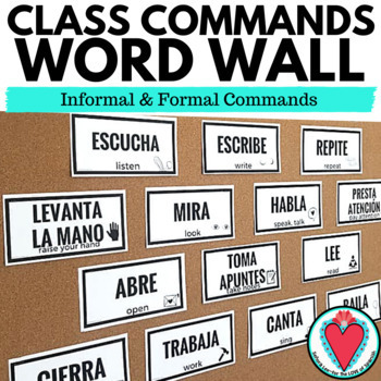 Spanish Commands Posters / Flashcards