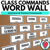 Spanish Commands Spanish Word Wall - Spanish Classroom Decor