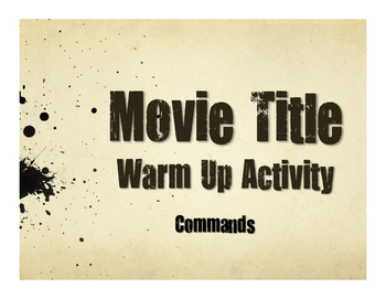 Spanish Commands Movie Titles