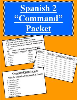 Spanish Commands Packet