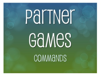 Spanish Commands Partner Games