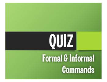 Spanish Commands Quiz