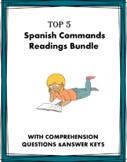 Spanish Commands Reading Mini Bundle: 3 Readings! (tú, Uds. Ud.)