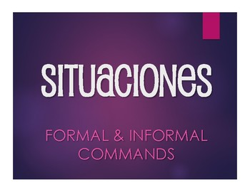 Spanish Commands Situations