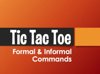 Spanish Commands Tic Tac Toe Partner Game