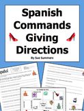 Spanish Commands and City Vocabulary 10 Giving Directions Responses