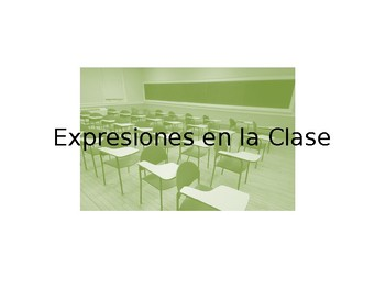 Spanish Common Classroom Command Guided Notes
