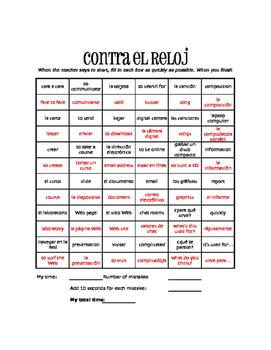 Spanish Communication Against the Clock
