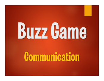 Spanish Communication Buzz Game