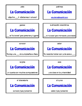 Spanish Communication Circle Puzzle