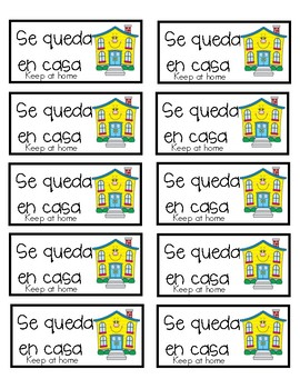Spanish Communication Folder Labels