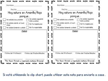 Spanish Communication Notes (Editable)